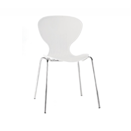 Bolero White Stacking Plastic Side Chairs (Pack of 4) - GP501